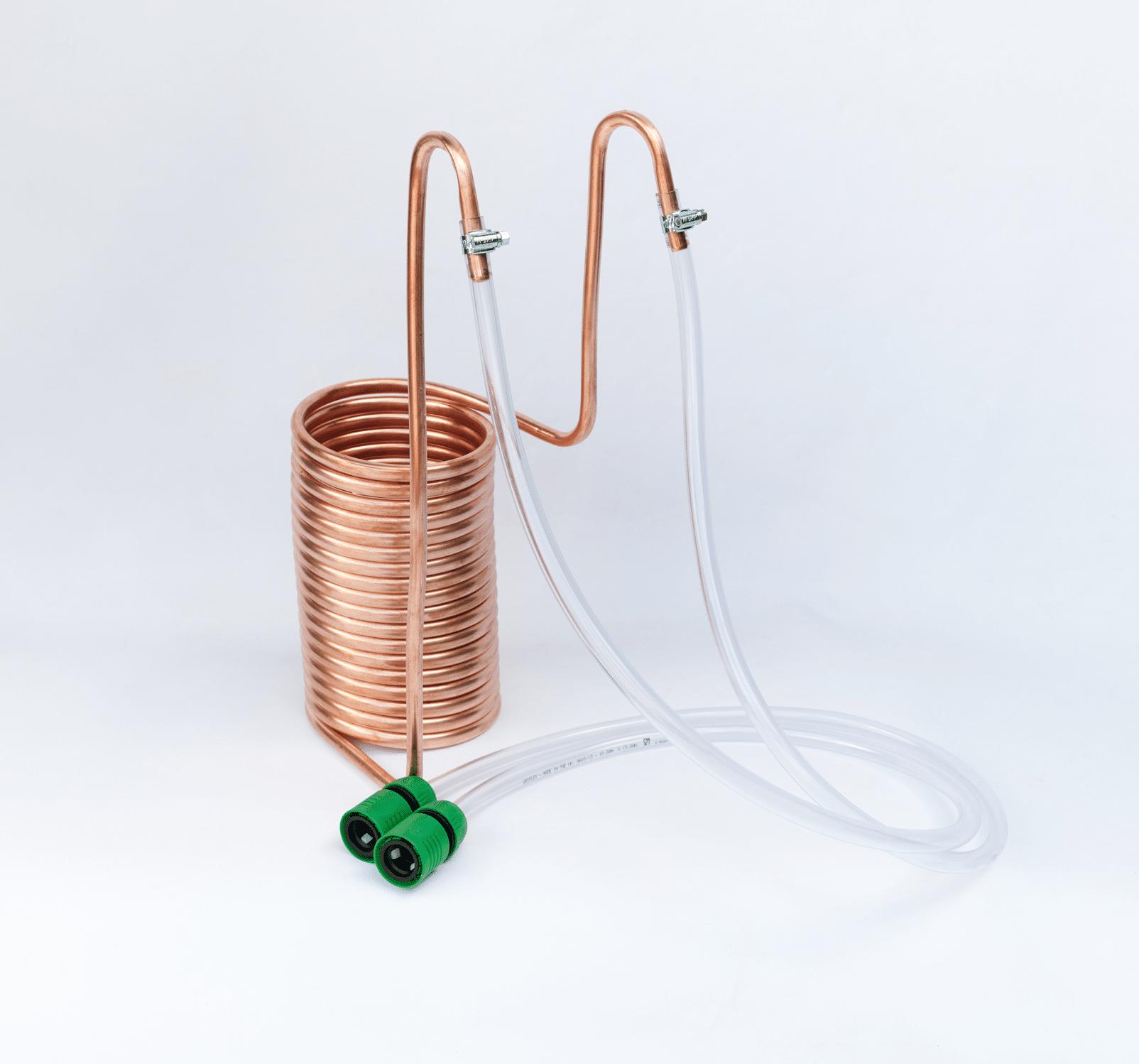 homebrew immersion copper wort chiller for wort cooling homebrew